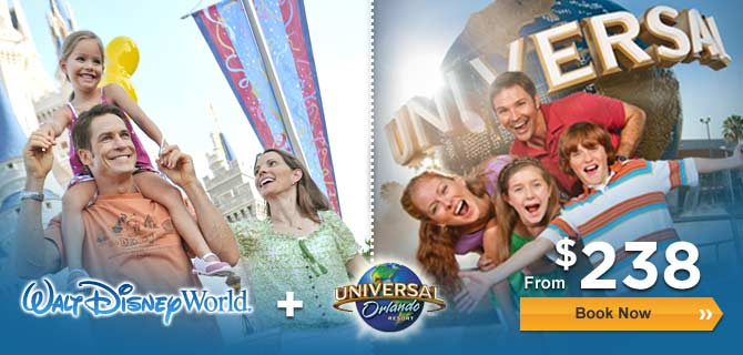 Orlando Theme Park Combo Package + Hotel